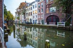 荷兰-乌得勒支- 2015年10月25日:传统欧洲建筑学 乌得勒支-荷兰 免版税库存照片