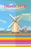 荷兰 向量海报 库存例证