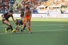 荷兰击败比利时在世界杯曲棍球赛期间2014年 免版税库存图片