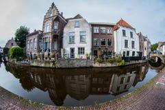 荷兰建筑学的反射 库存照片