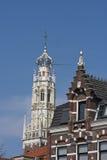 荷兰Bakenesserkerk的砂岩塔,哈莱姆 免版税库存照片