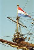 荷兰VOC船从荷兰的金黄世纪 图库摄影
