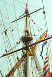 荷兰VOC船从荷兰的金黄世纪 库存照片