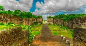 荷花池在巴厘岛 库存照片