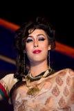 莎丽服的,时装模特儿印地安妇女 库存图片