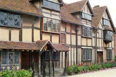 莎士比亚出生地房子 库存照片