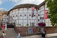 莎士比亚地球剧院伦敦英国 免版税库存图片