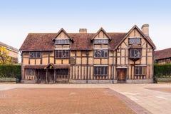 莎士比亚` s出生地,在Avon,沃里克郡,英国的斯特拉福 免版税图库摄影