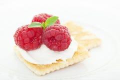 莓乳脂干酪开胃菜 免版税库存照片