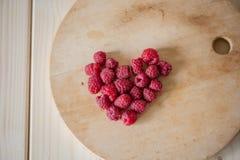 莓在心脏 图库摄影