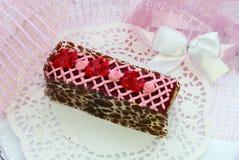 莓蛋糕 图库摄影