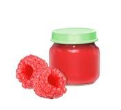 莓大莓果和能用婴儿食品 库存图片