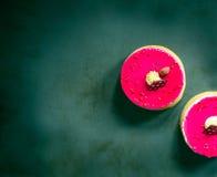 莓开心果微型馅饼 免版税图库摄影