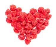 莓心脏 免版税图库摄影