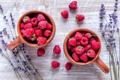 莓构成有干燥淡紫色土气背景顶视图 库存照片