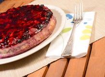 莓果乳酪蛋糕 库存照片