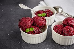 莓果冰糕 库存照片