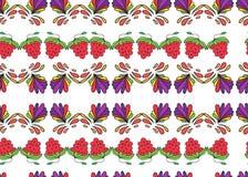 莓果和五颜六色的样式卷毛 免版税库存照片