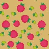 莓果和鹅莓动画片无缝的纹理646 库存例证