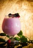 莓果圆滑的人、健康水多的维生素饮料饮食或者素食主义者食物概念,新鲜的维生素,自创刷新的果子饮料 库存图片