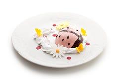 莓果奶油甜点 库存图片