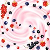 莓果奶油 库存照片