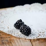 莓果成熟黑莓 库存照片