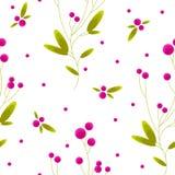莓果无缝的样式 免版税库存图片
