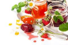 莓果果酱 免版税库存图片