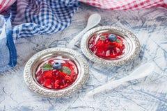 莓果果冻 免版税库存图片