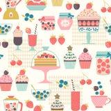 莓果甜点样式 库存照片