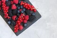 莓果莓红浆果蓝莓和blackber的混合 免版税库存照片