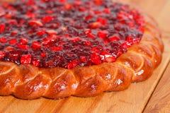 莓果蛋糕粉 免版税库存图片