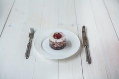 莓果蛋糕 免版税库存图片