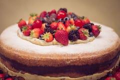 莓果蛋糕 库存图片