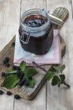黑莓果酱 免版税库存图片