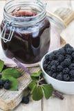 黑莓果酱 库存照片