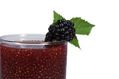 莓果Chia饮料黑莓 免版税库存照片