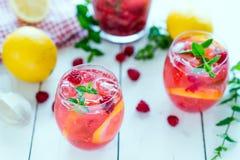 莓柠檬水 免版税图库摄影