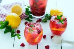 莓柠檬水 库存照片