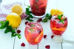 莓柠檬水 免版税库存照片