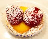 莓甜点 免版税图库摄影