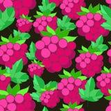 莓的样式在背景的 免版税库存图片