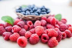 莓蓝莓果子新鲜抗氧剂食物 库存照片
