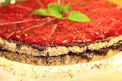 莓蛋糕用薄菏 图库摄影