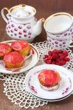莓蛋糕 库存照片