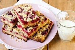 莓面包屑条 免版税库存照片