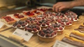 莓饼在商店 库存图片
