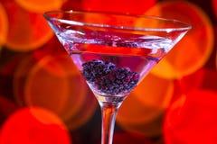 黑莓马蒂尼鸡尾酒 图库摄影