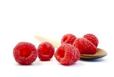 莓&木匙子 免版税库存图片